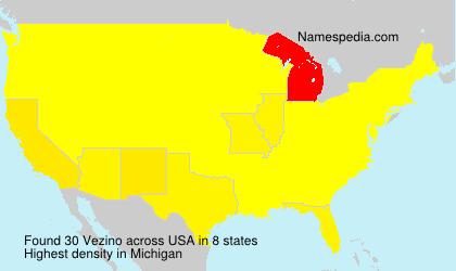 Surname Vezino in USA