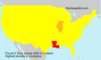 Surname Vezy in USA