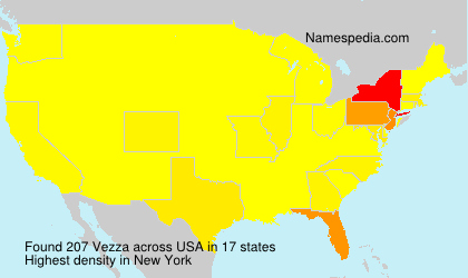 Surname Vezza in USA