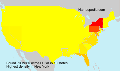 Surname Vezzi in USA