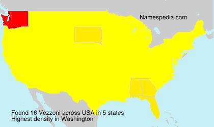 Surname Vezzoni in USA