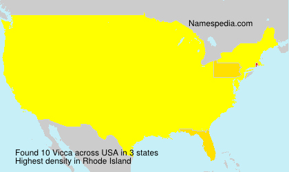 Surname Vicca in USA