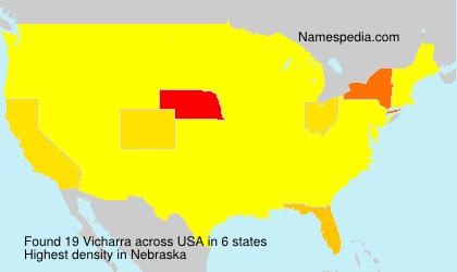 Surname Vicharra in USA