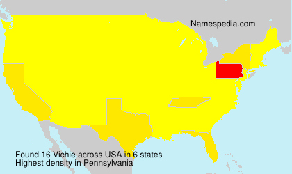 Surname Vichie in USA