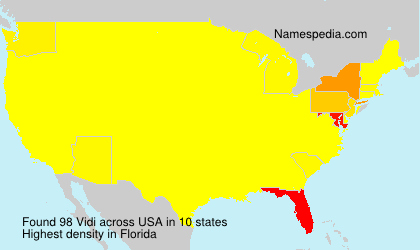 Surname Vidi in USA