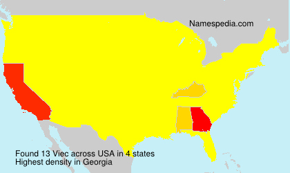 Surname Viec in USA