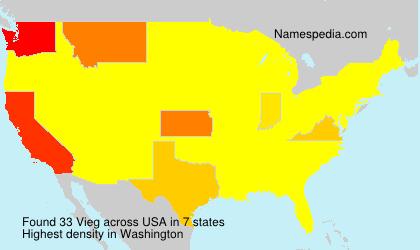 Surname Vieg in USA