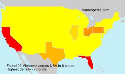 Surname Viehbeck in USA