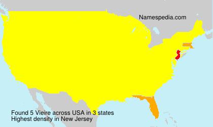 Familiennamen Vieire - USA