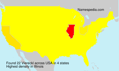 Surname Viereckl in USA