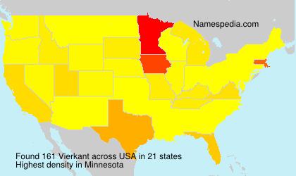 Familiennamen Vierkant - USA