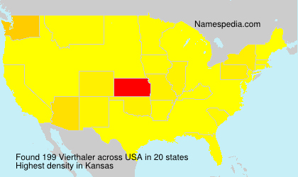 Surname Vierthaler in USA