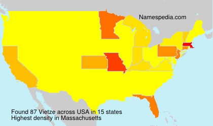 Surname Vietze in USA