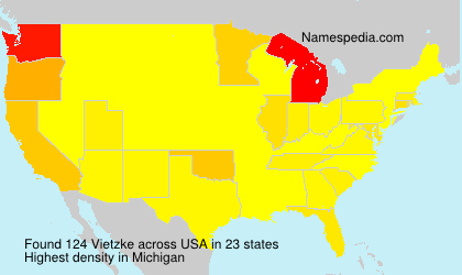 Surname Vietzke in USA