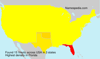 Surname Vieyto in USA