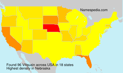 Familiennamen Vifquain - USA