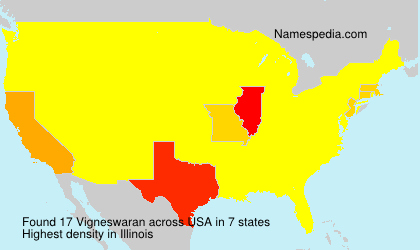 Surname Vigneswaran in USA