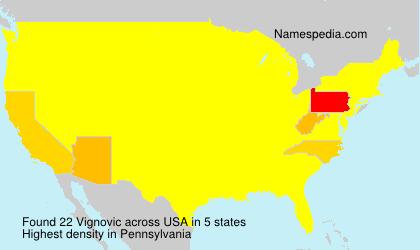 Surname Vignovic in USA