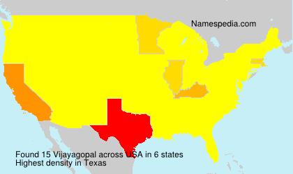 Familiennamen Vijayagopal - USA