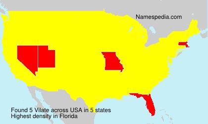 Surname Vilate in USA