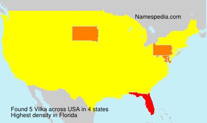 Surname Vilka in USA