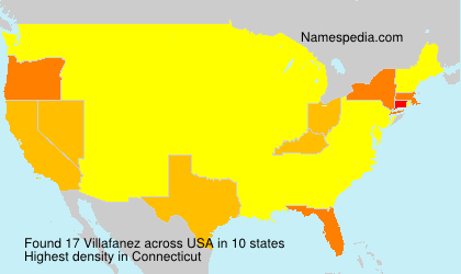 Surname Villafanez in USA