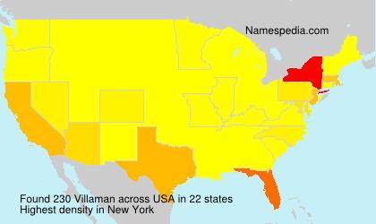 Surname Villaman in USA