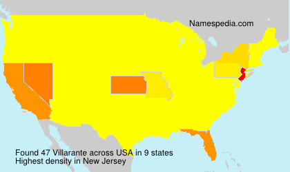 Surname Villarante in USA