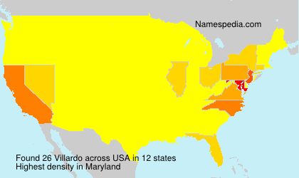 Surname Villardo in USA