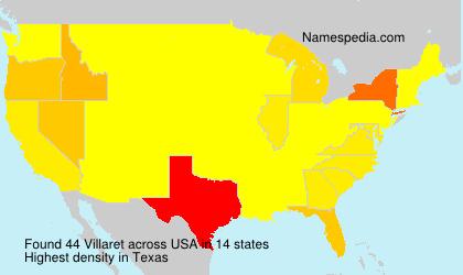 Familiennamen Villaret - USA