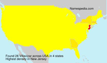 Surname Villavizar in USA