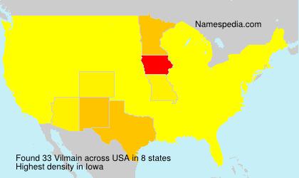 Familiennamen Vilmain - USA
