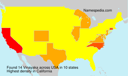 Surname Vinayaka in USA