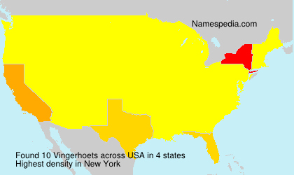 Surname Vingerhoets in USA