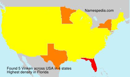 Surname Vinken in USA