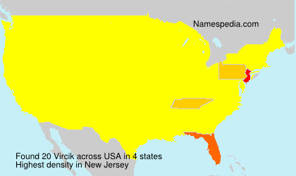 Surname Vircik in USA