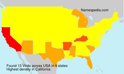 Surname Virda in USA