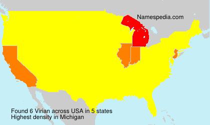 Surname Virian in USA