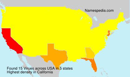 Surname Virues in USA