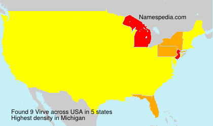 Surname Virve in USA