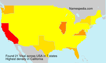 Surname Visal in USA