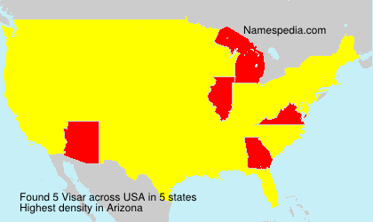 Familiennamen Visar - USA