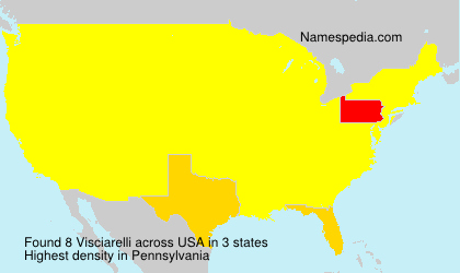 Surname Visciarelli in USA