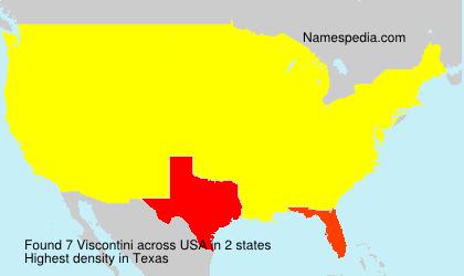 Familiennamen Viscontini - USA