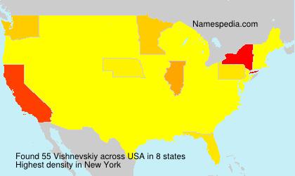 Surname Vishnevskiy in USA