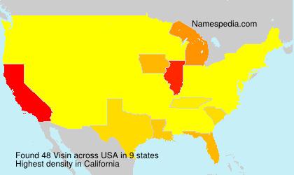 Surname Visin in USA