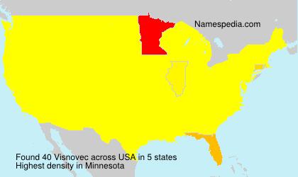 Surname Visnovec in USA