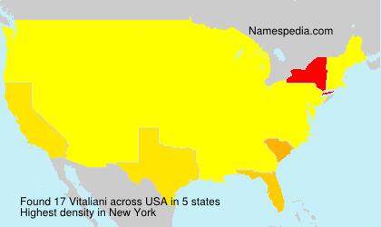 Familiennamen Vitaliani - USA