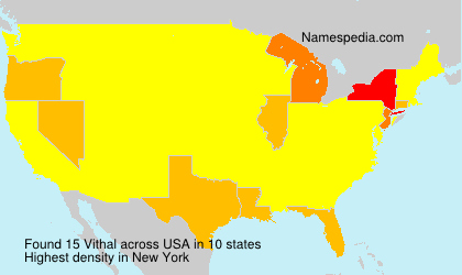 Surname Vithal in USA