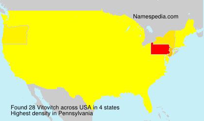 Familiennamen Vitovitch - USA